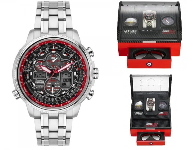 JY8040-55E Citizen Herrklocka Red Arrows Navihawk Eco-Drive Limited Edition